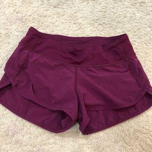 Purple Lululemon Speed Short